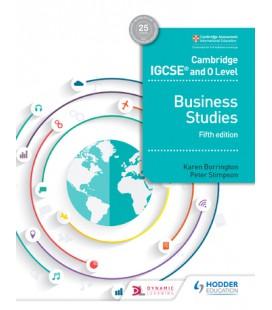Cambridge IGCSE and O Level Business Studies 5th edition