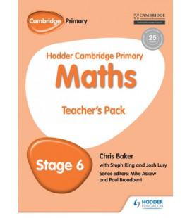 Hodder Cambridge Primary Maths Teacher's Pack 6