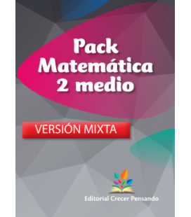 Pack Matemática 2 medio VERSIÓN MIXTA